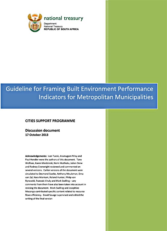 Guideline for Framing Built Environment Performance Indicators f