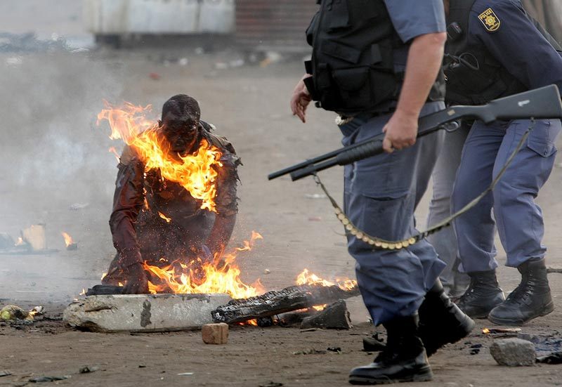 Popular South African anger at marginalisation boils over against foreign scapegoats